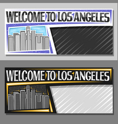 layouts for los angeles vector image