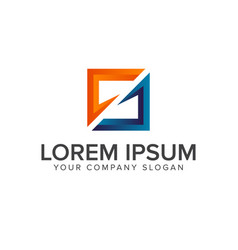 letter s logo square shape design concept template vector image