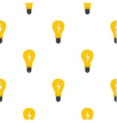 light bulb with lightning inside pattern flat vector image