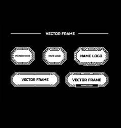 line frame vector image