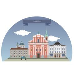 Ljubljana vector image