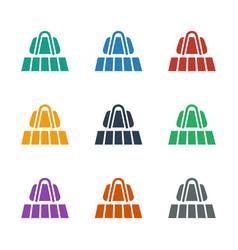 Luggage belt icon white background vector