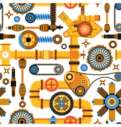 Machinery Seamless Pattern vector image