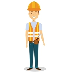 Male builder avatar character vector