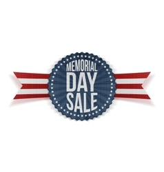 Memorial Day Sale patriotic Banner with Text vector
