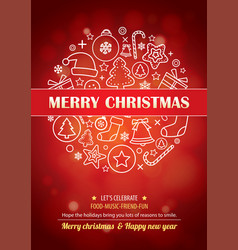 Merry christmas party for flyer brochure design vector