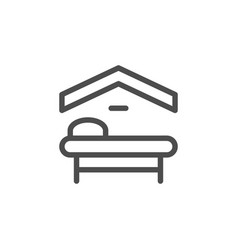 motel line icon vector image