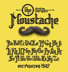 Moustache font vector