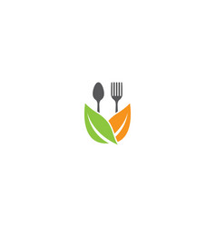 organic food logo template vector image