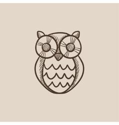 Owl sketch icon vector