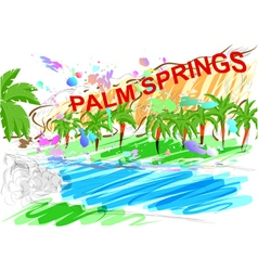 Palm springs vector