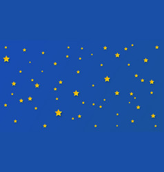 paper art starry sky vector image