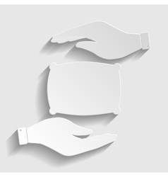 Pillow sign Paper style icon vector