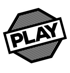 Play black stamp vector
