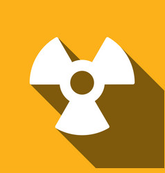 radiation symbol with a long shadow vector image