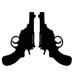 retro short revolvers vector image