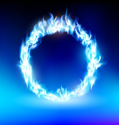 ring with a blue flame vector image vector image