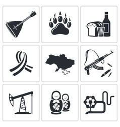 Russia icon collection vector