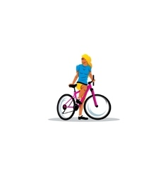 Sexy Girl on Bike sign vector image