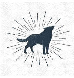 Sign howling wolf vector