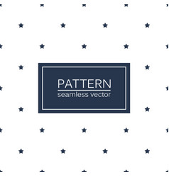 Simple seamless patterns with blue stars vector