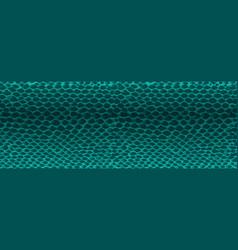 snake skin green seamless texture vector image