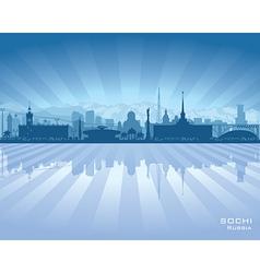 Sochi Russia skyline city silhouette vector image