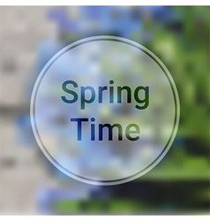 Spring Time Blurred Background with Blue Flowers vector