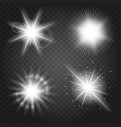 Stars set on transparent background vector