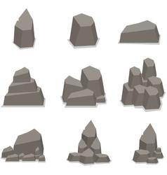 Stone style set vector