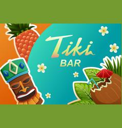 tiki bar poster vector image