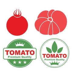 Tomato cherry vector