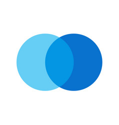 two overlapping circles design and marketing can vector image