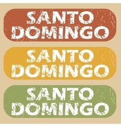 Vintage Santo Domingo stamp set vector
