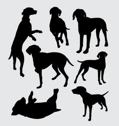 vizsla dog pet animal silhouette vector image