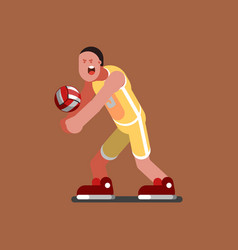 volleyball sketch player vector image