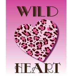 Wild Heart vector