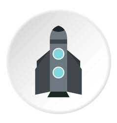 Winged rocket icon flat style vector