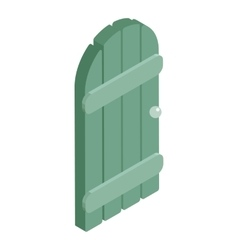 Wooden garden door icon cartoon style vector image