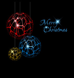 Abstract christmas decorations vector