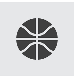 Basketball ball icon vector image