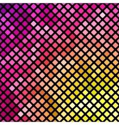 Bright pink and yellow mosaic vector image vector image