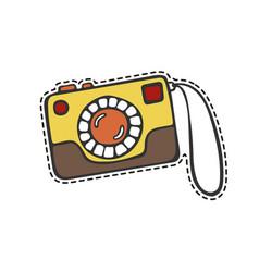 camera sticker vector image