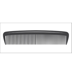 Comb vintage obgect vector image