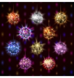 Disco balls set vector image