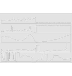 Gray business flat graph trend chart vector