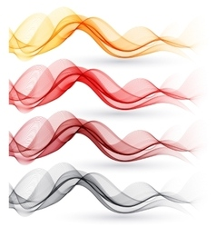 Set of abstract waves vector image vector image