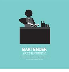 Black Symbol Bartender vector image