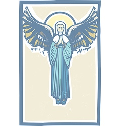 Angel Winged Virgin Mary vector image vector image