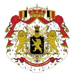 coat of arms of Belgium vector image vector image